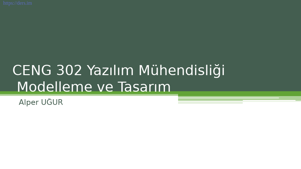 Yazılım mühendisliği Pamukkale Üniversitesi 5. Ders - Alper Uğur