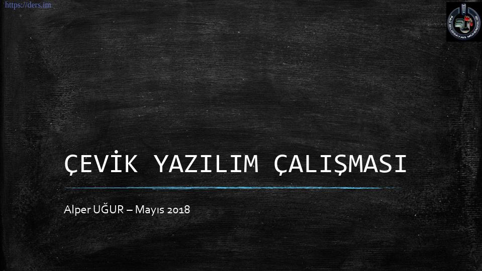 Yazılım mühendisliği Pamukkale Üniversitesi 9. Ders - Alper Uğur
