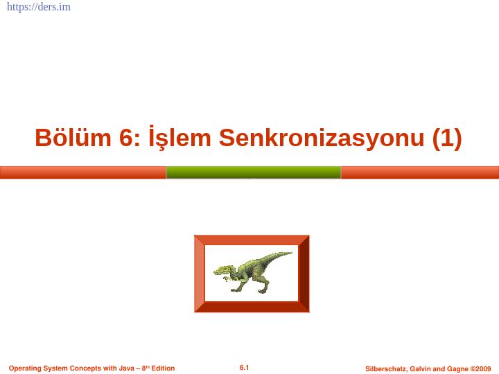 İşletim sistemleri işlem senkronizasyonu - process synchronization - 1