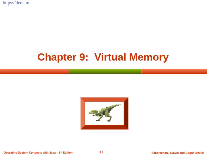 İşletim sistemleri sanal bellek - virtual memory