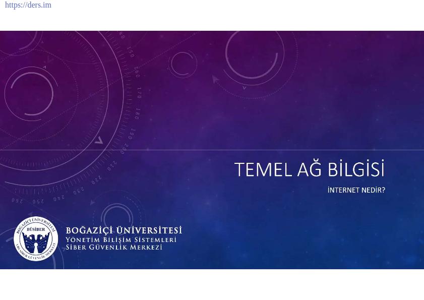 Temel Ağ Bilgisi ve OSI Modelinin işlendiği bir PDF. Kurslarda ve sunumlarda kullanılmak üzere BÜSİBER eğitmenleri tarafından hazırlanmıştır.