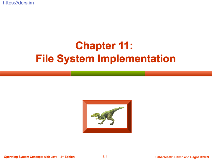 İşletim sistemleri dosya sistemi gerçekleştirimi