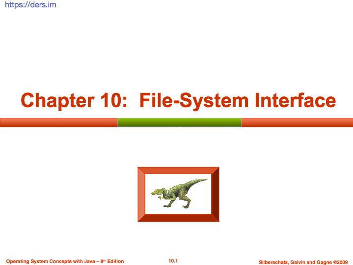 İşletim sistemleri dosya sistemi arayuzu - file system interface