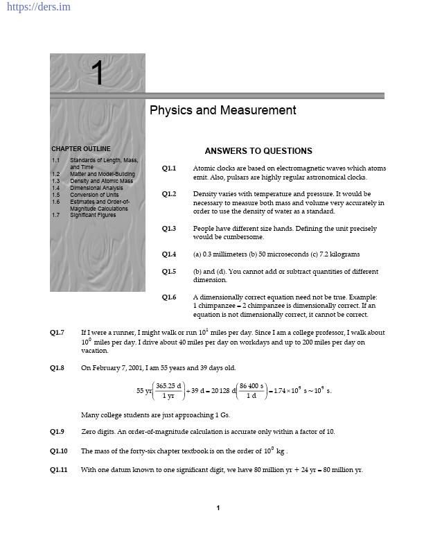 Serway Fizik Kitabı Çözümleri ENGLISH