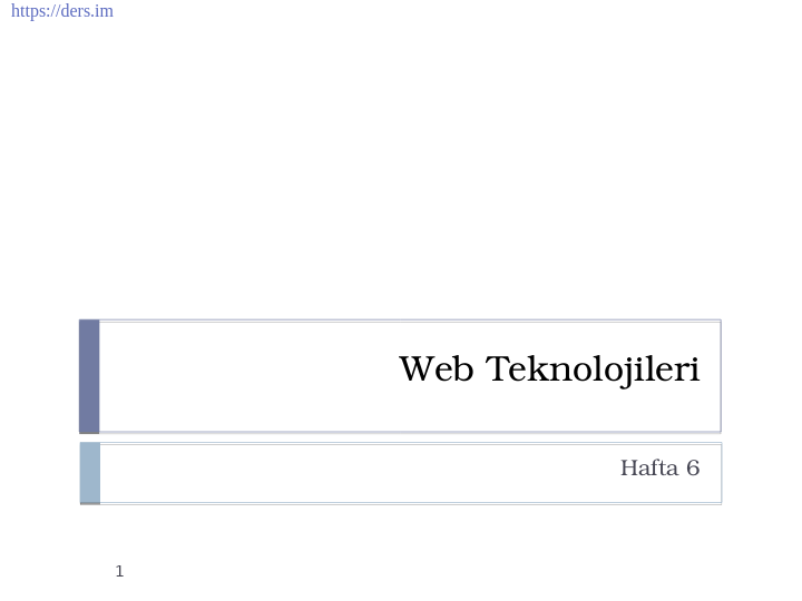 Html Formlar   &&    Javascript