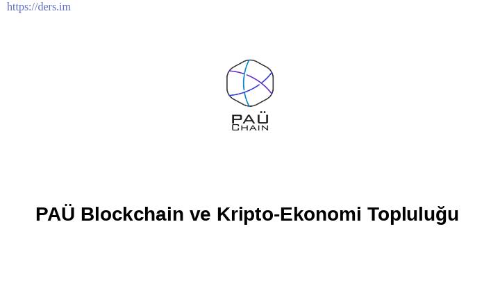 PAÜ Blockchain ve Kripto-Ekonomi Topluluğu
