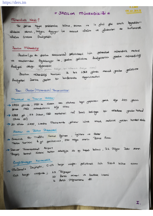 OMÜ-Bilgisayar Mühendisliği Prof. Dr. Selçuk Aslan'ın Ders Notları