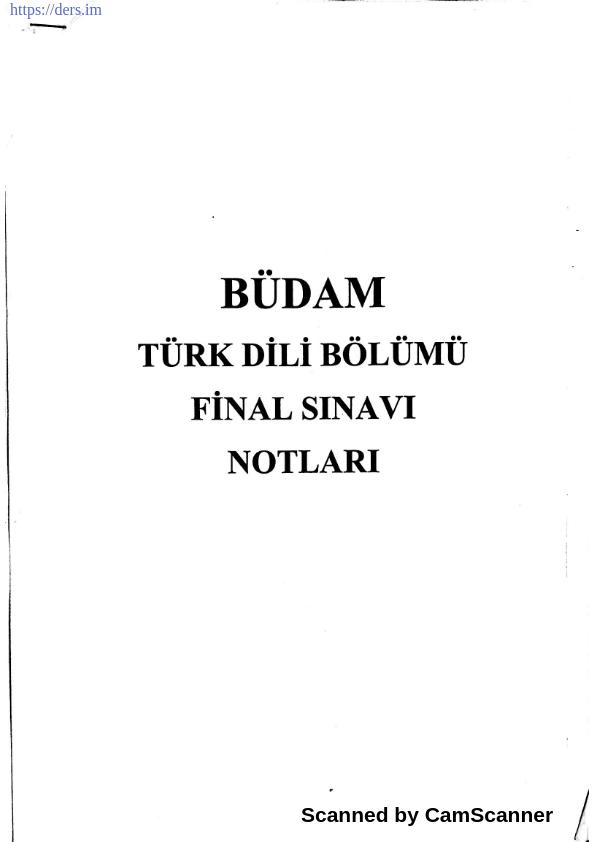 Büdam türk dili final ders notu