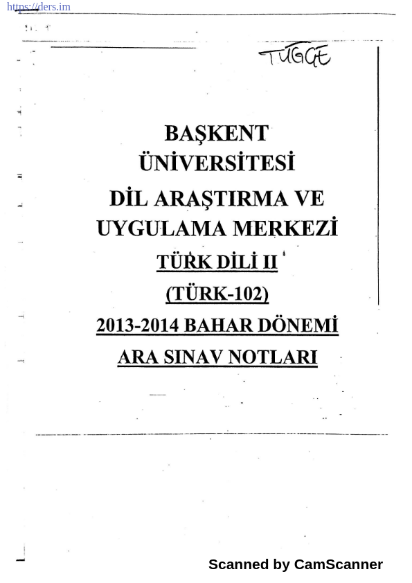 Türk dili 2 ders notu