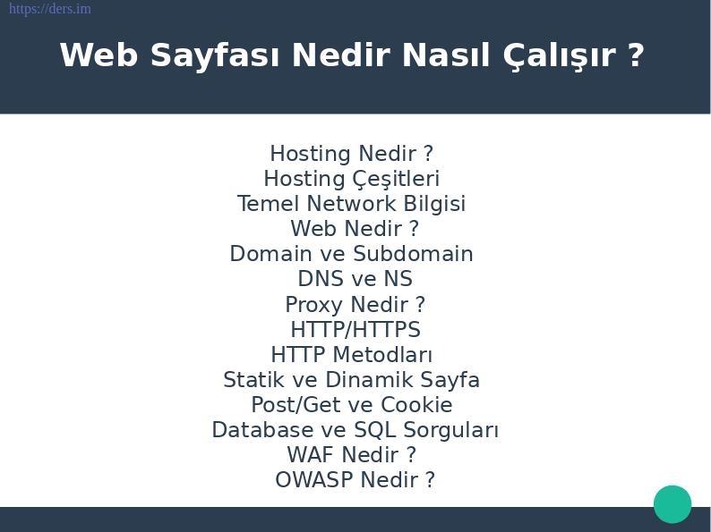 WEB temellerini anlatmak için PauSiber ekibi tarafından hazırlanan dökümandır.