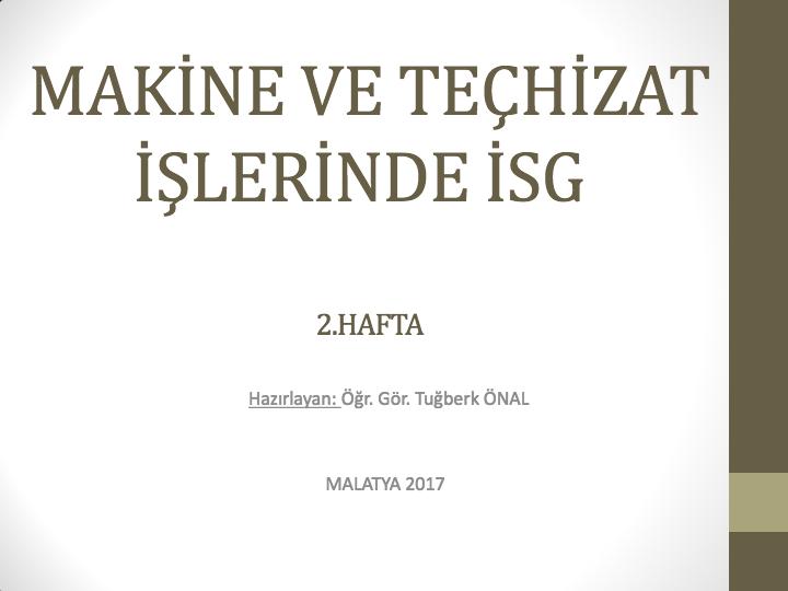 TESİSAT BİLGİSİ DERSİ 1.HAFTA