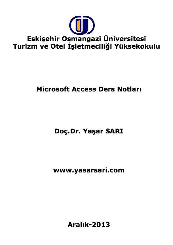 Access Microsoft firması tarafından geliştirilmiş Microsoft Office paketi içinde yer alan ve. Windows işletim sistemi altında çalışabilen bir veritabanı uygulama yazılımıdır. Her ne kadar yakın zamanda Office 2013 piyasaya sürülmüşse de burada hali hazırda yaygın kullanımı devam eden Office 2010 içinde yer alan Access