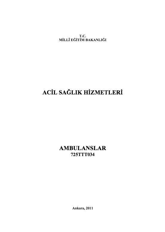 Ambulanslar ders notu pdf