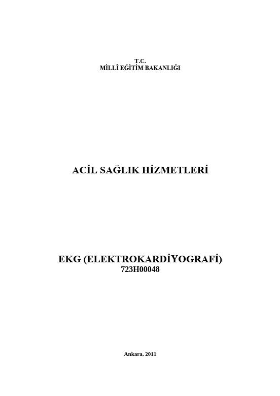 Ekg (elektrokardiografi)