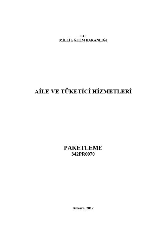 Paketleme ders notu pdf