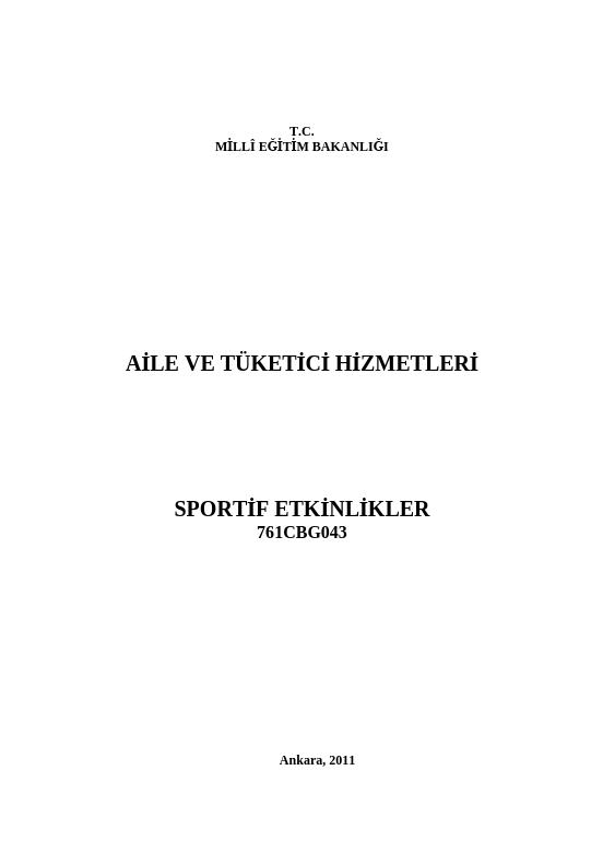 Sportif Etkinlikler ders notu pdf