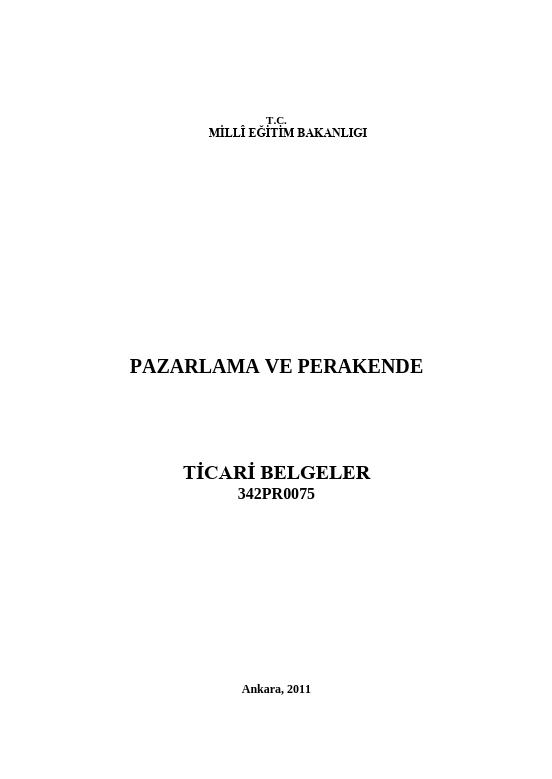 Ticari Belgeler