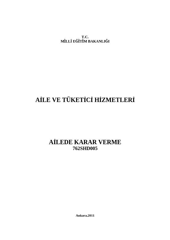 Karar Verme ders notu pdf