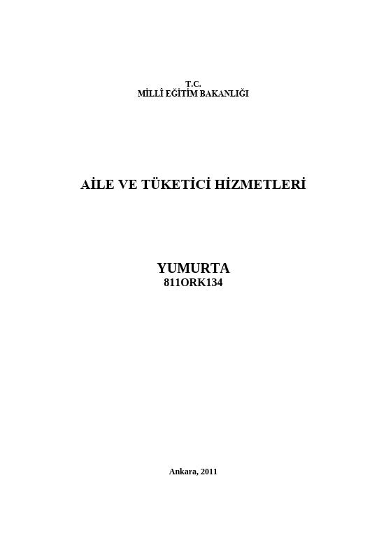Yumurta (aile Ve Tüketici) ders notu pdf