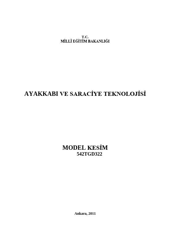 Model Kesim ders notu pdf