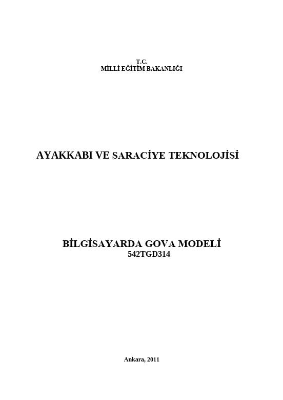 Bilgisayarda Gova Modeli ders notu pdf