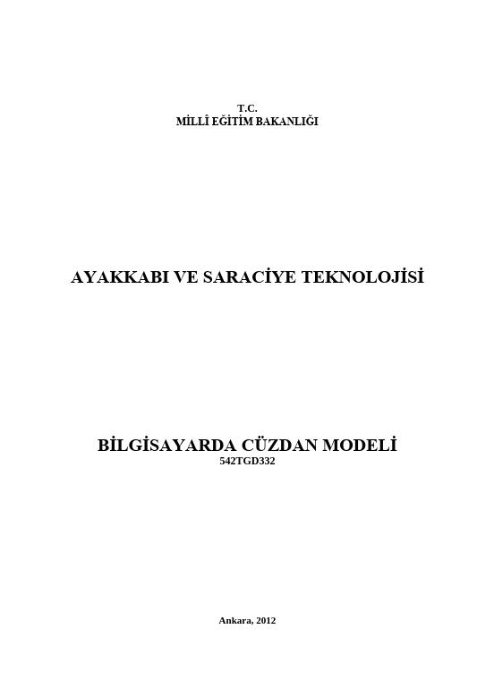 Bilgisayarda Cüzdan Modeli ders notu pdf