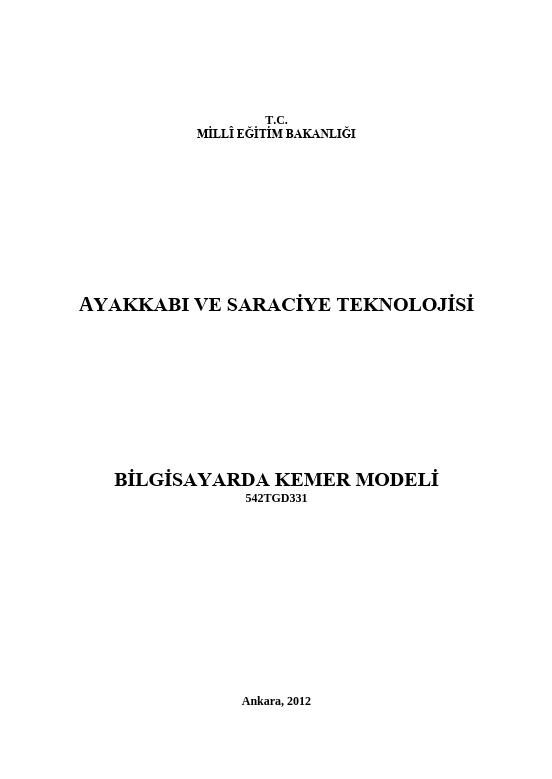 Bilgisayarda Kemer Modeli ders notu pdf