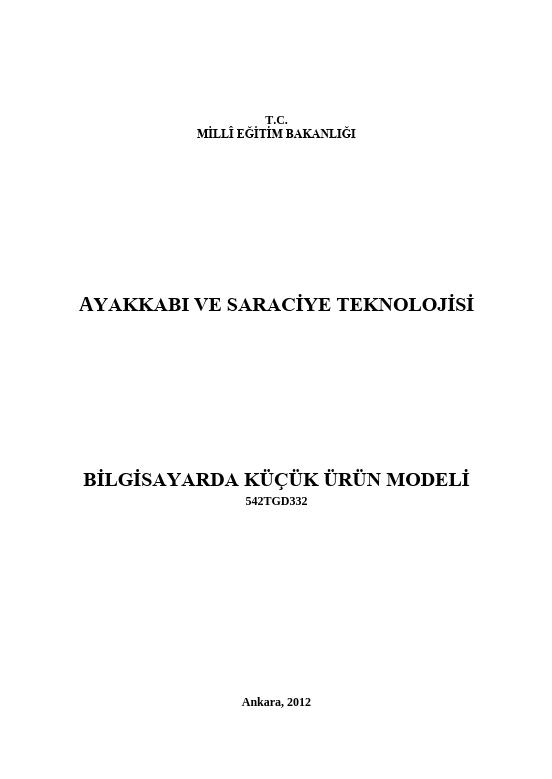 Bilgisayarda Küçük Ürün Modeli ders notu pdf