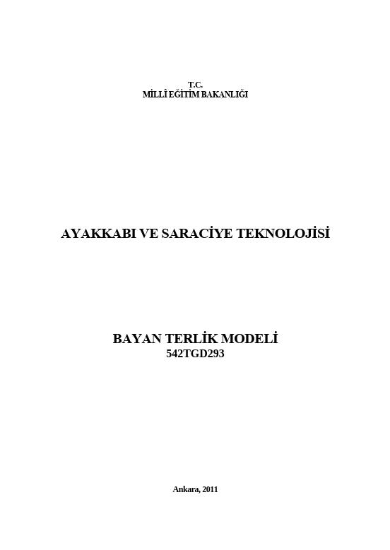 Bayan Terlik Modeli ders notu pdf