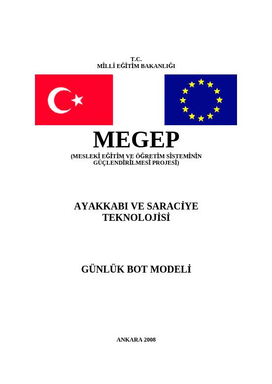 Günlük Bot  Modeli ders notu pdf