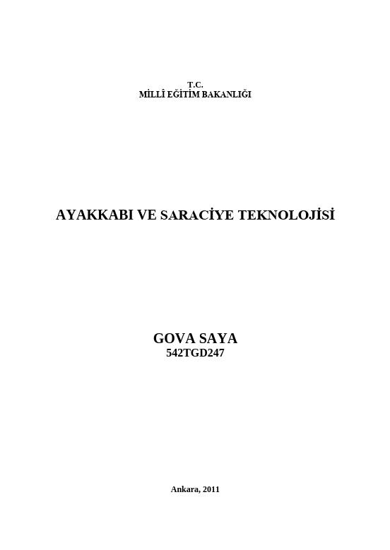 Gova Saya ders notu pdf