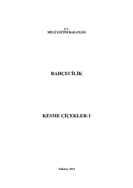 Kesme Çiçekler 1 ders notu pdf