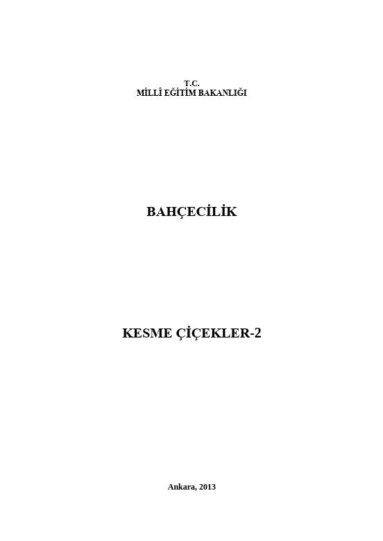 Kesme Çiçekler 2 ders notu pdf