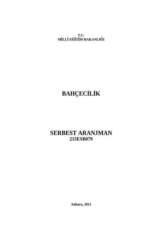 Serbest Aranjman ders notu pdf