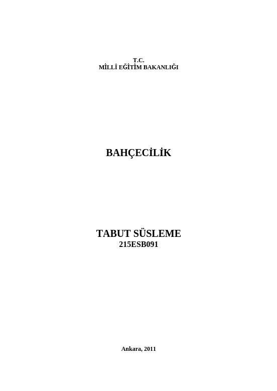 Tabut Süslemesi ders notu pdf
