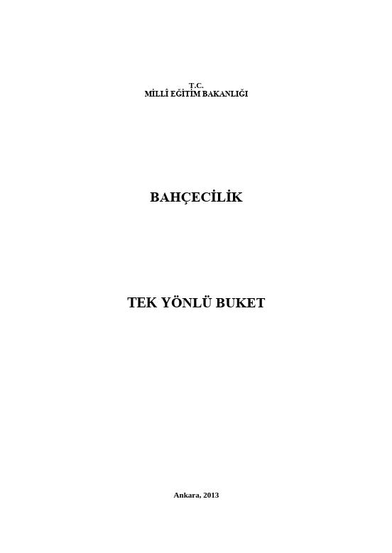 Tek Yönlü Buket ders notu pdf