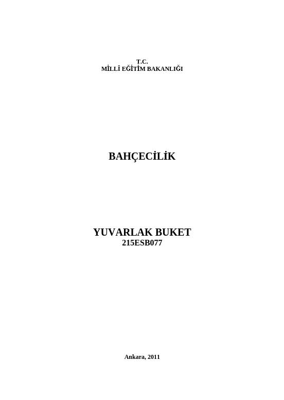 Yuvarlak Buket ders notu pdf