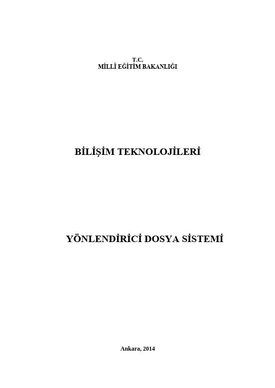 Yönlendirici Dosya Sistemi ders notu pdf