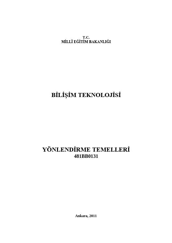 Yönlendirme Temelleri ders notu pdf