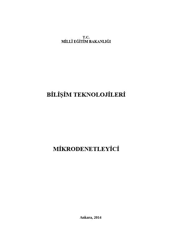 Mikrodenetleyici ders notu pdf