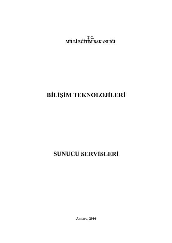 Sunucu Servisleri ders notu pdf