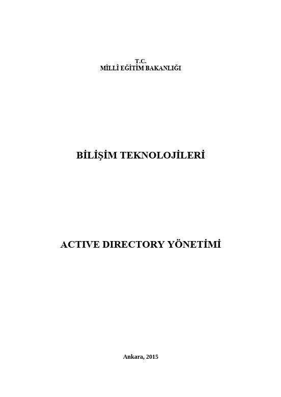Active Directory Yönetimi