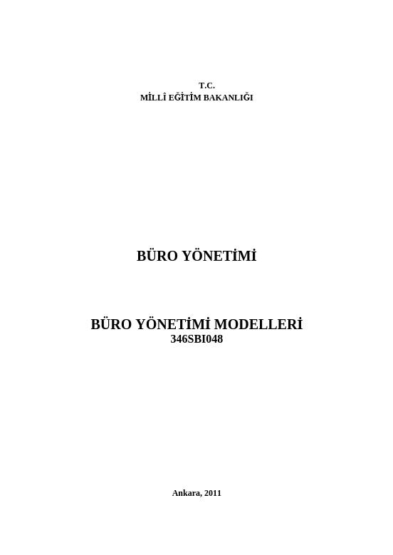 Büro Yönetimi Modelleri