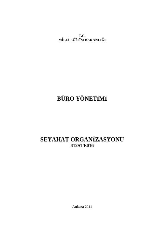 Seyahat Organizasyonu