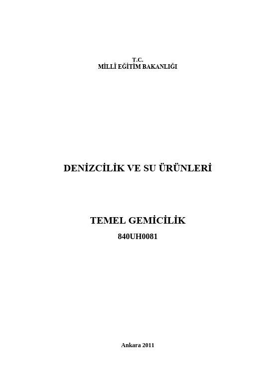 Temel Gemicilik ders notu pdf