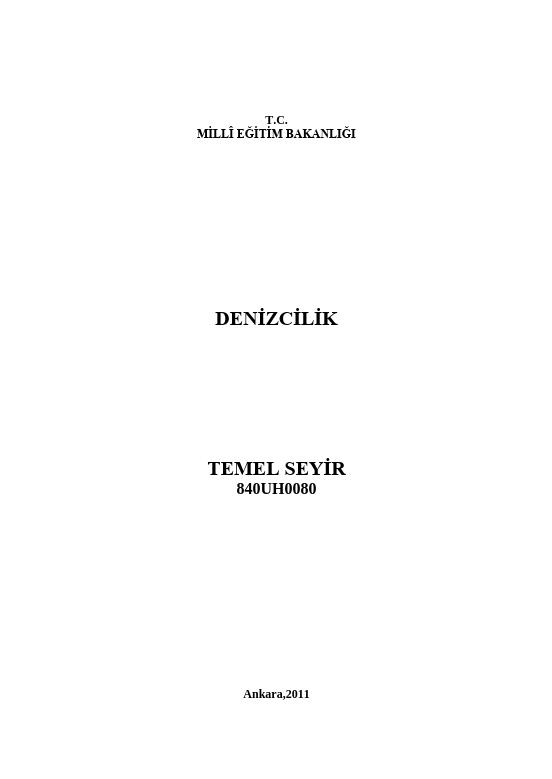 Temel Seyir ders notu pdf