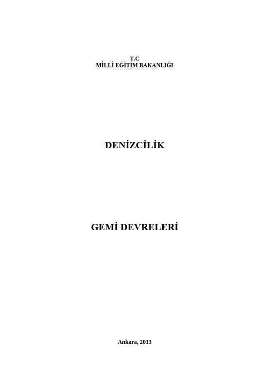 Gemi Devreleri ders notu pdf
