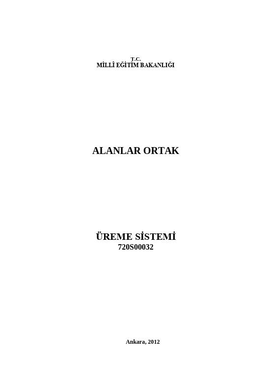 Üreme Sistemi ders notu pdf