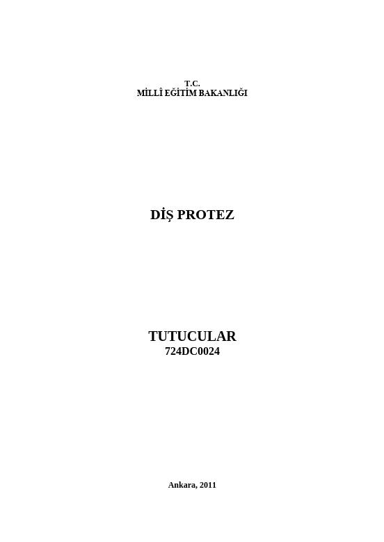 Tutucular ders notu pdf