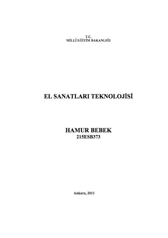 Hamur Bebek ders notu pdf